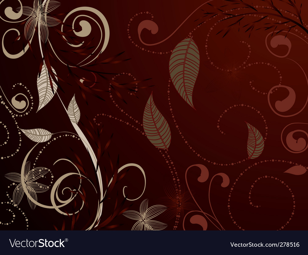 Vintage pattern red brown vector | Price: 1 Credit (USD $1)