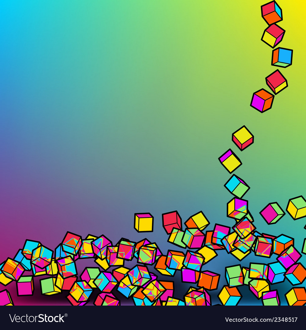 Abstract 3d colorful mosaic background eps8 vector | Price: 1 Credit (USD $1)