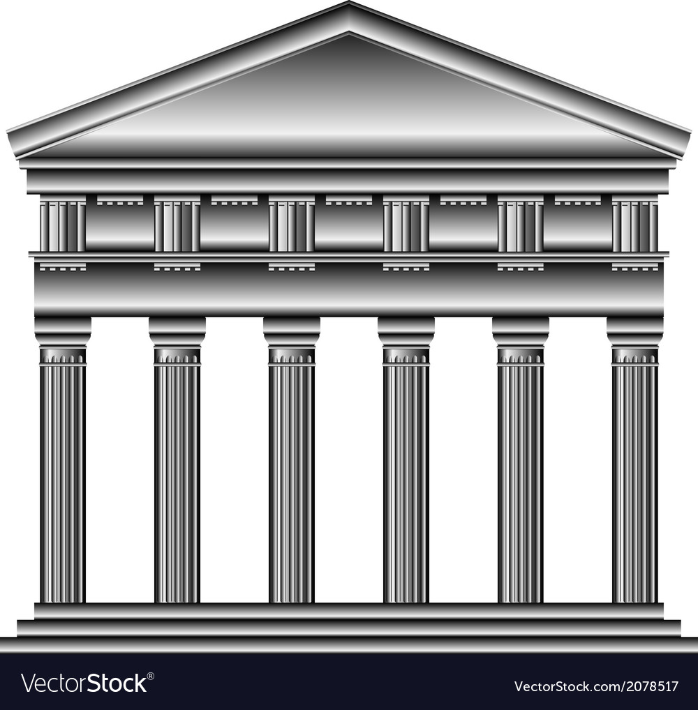 Doric temple vector | Price: 1 Credit (USD $1)