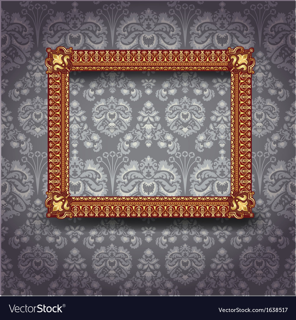 Frame on the wall vector | Price: 1 Credit (USD $1)