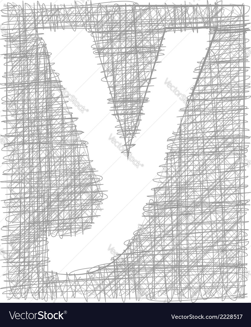 Freehand typography letter y vector | Price: 1 Credit (USD $1)