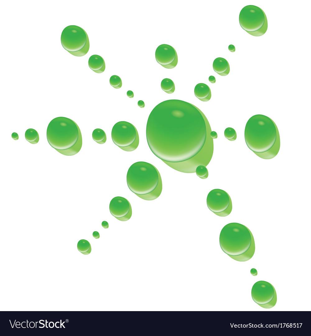Green water drop vector | Price: 1 Credit (USD $1)