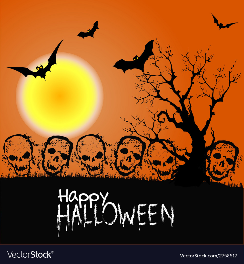 Halloween zombie party poster vector | Price: 1 Credit (USD $1)