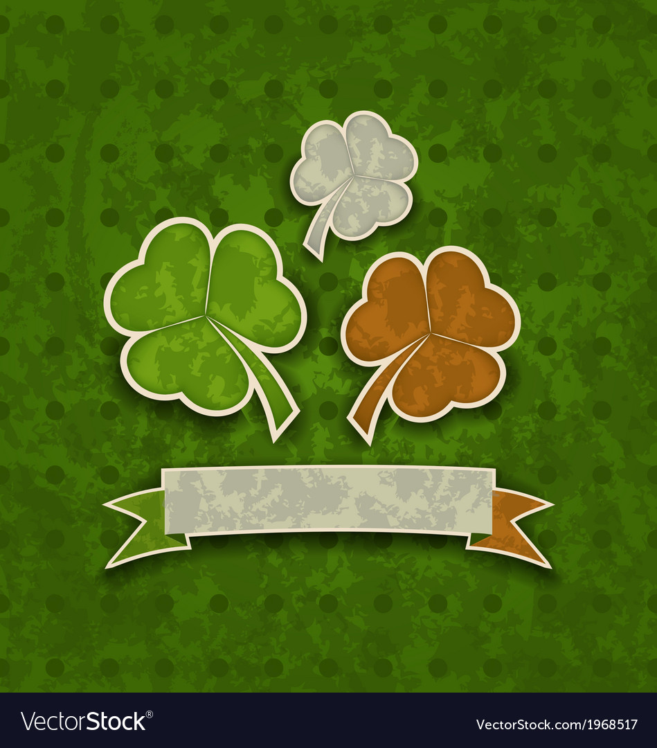 Holiday background with clovers in irish flag vector | Price: 1 Credit (USD $1)