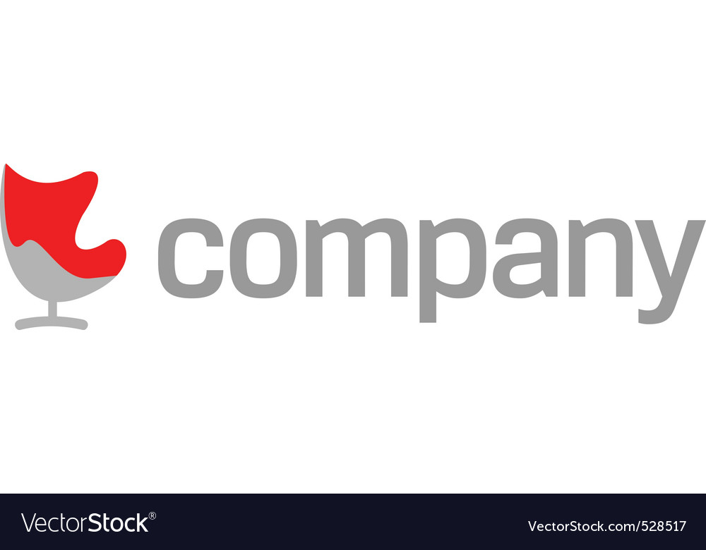 Modern furniture company logo vector