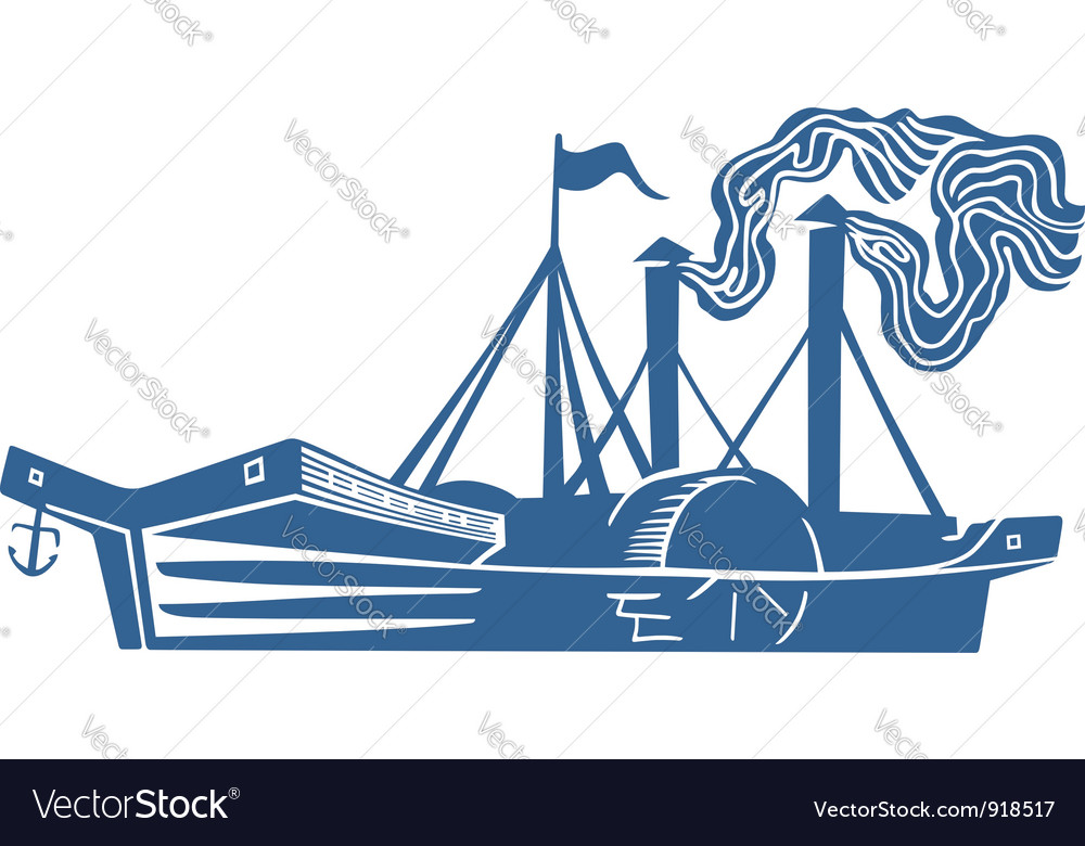 Paddle steamer vector | Price: 1 Credit (USD $1)