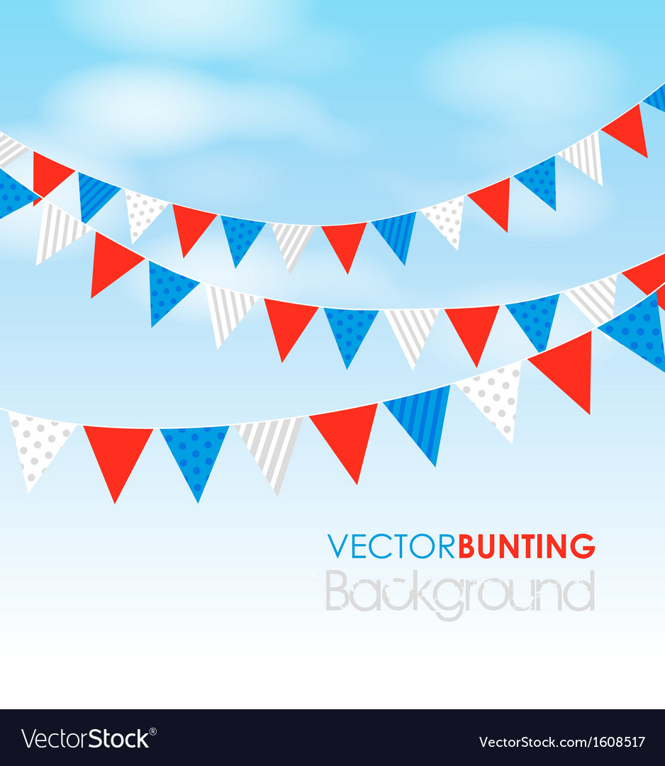 Red blue bunting vector | Price: 1 Credit (USD $1)
