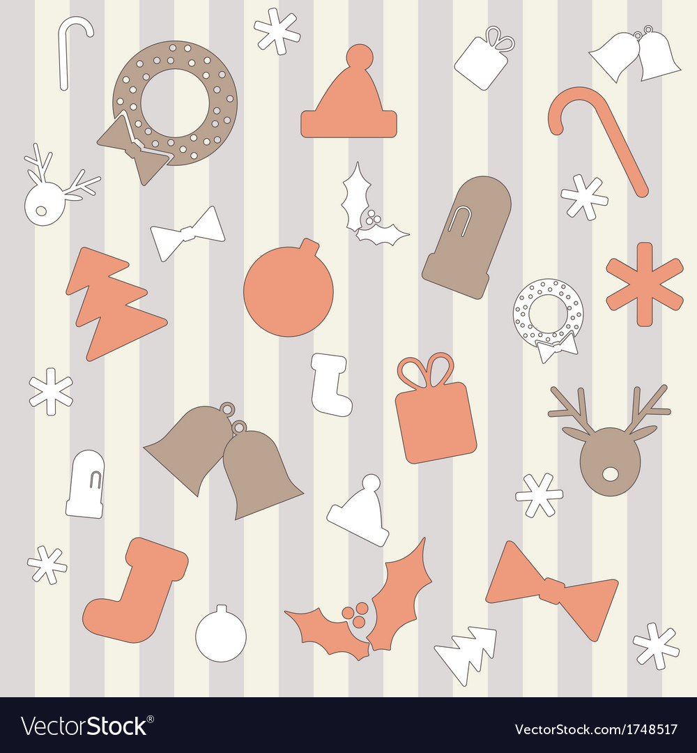 Seamless background with christmas elements vector | Price: 1 Credit (USD $1)