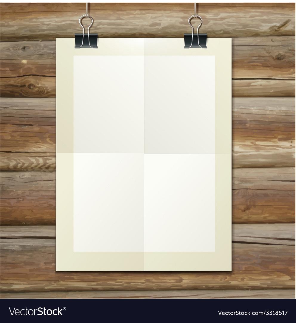 Template of a paper sheet -poster picture frame- vector | Price: 1 Credit (USD $1)