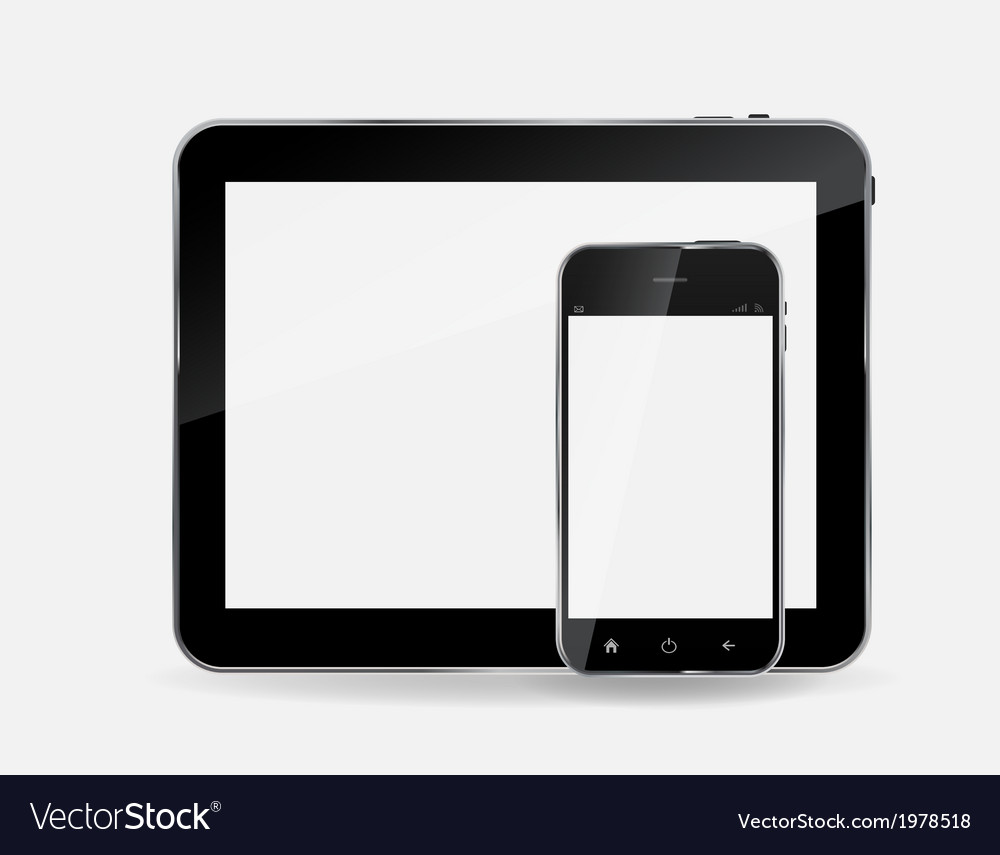 Abstract design mobile phone and tablet pc vector | Price: 1 Credit (USD $1)