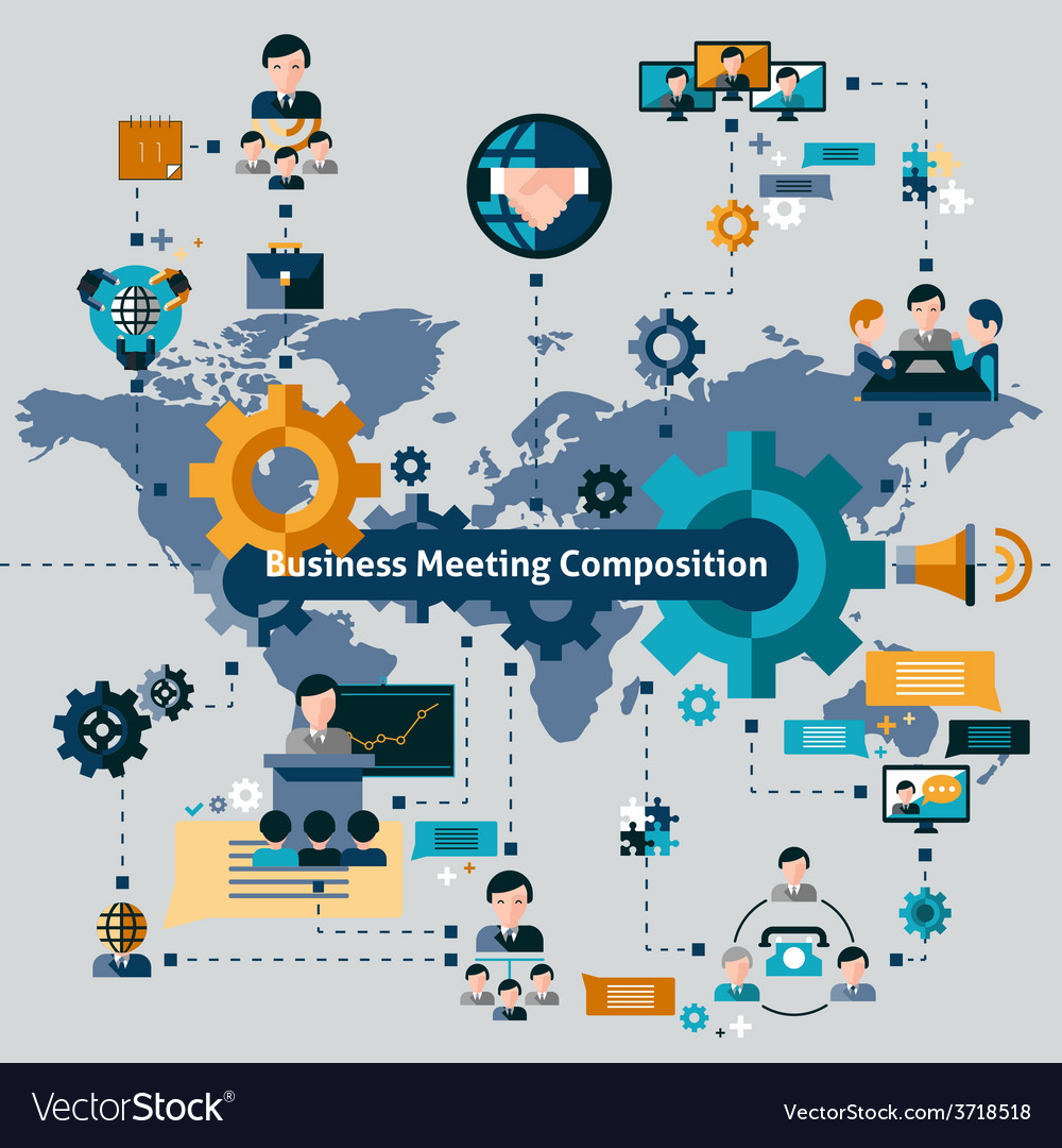 Business meeting composition vector | Price: 1 Credit (USD $1)