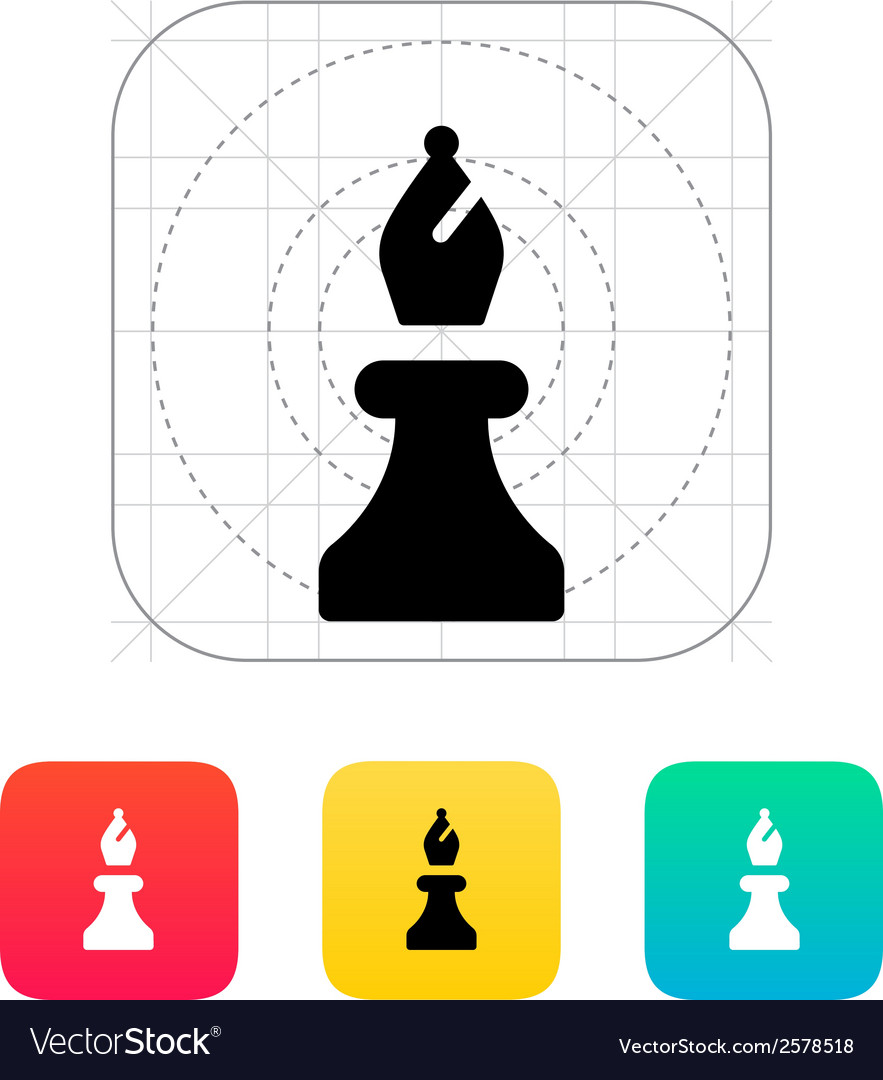 Chess bishop icon vector | Price: 1 Credit (USD $1)