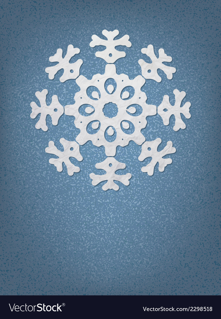 Christmas origami snowflake  eps8 vector | Price: 1 Credit (USD $1)