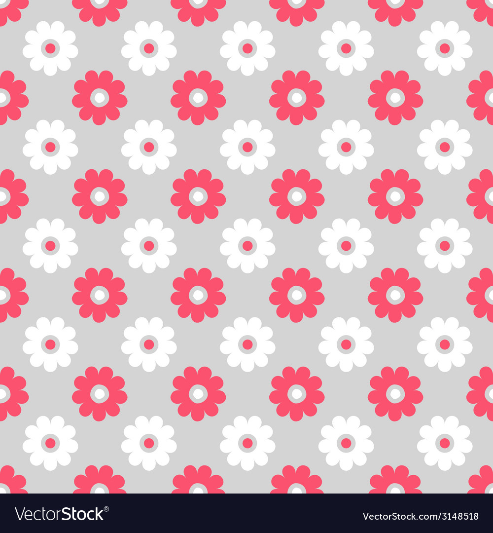 Cute different seamless pattern pink white and vector | Price: 1 Credit (USD $1)