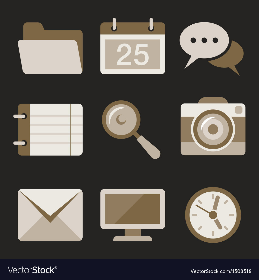 Flat icons set 2 vector | Price: 3 Credit (USD $3)