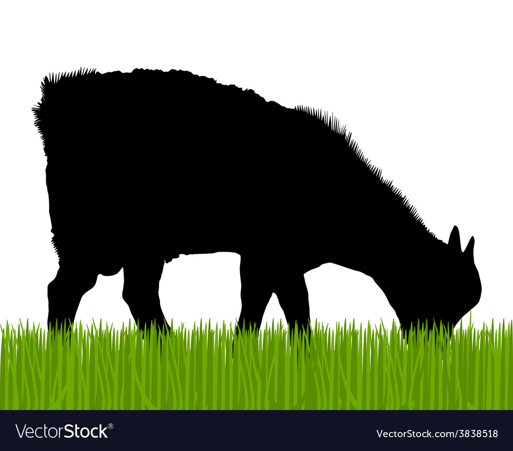 Goat silhouette vector | Price: 1 Credit (USD $1)