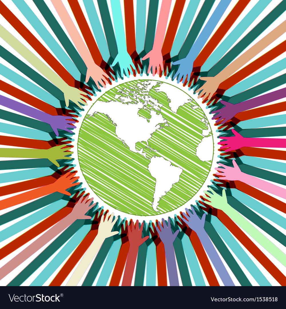 Hands take care of cultural earth vector   Price: 1 Credit (USD $1)