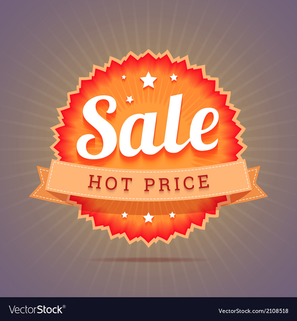Hot price badge vector | Price: 1 Credit (USD $1)
