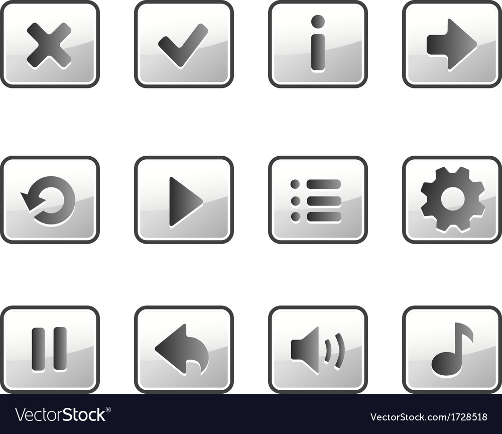 Metall buttons for game vector | Price: 1 Credit (USD $1)