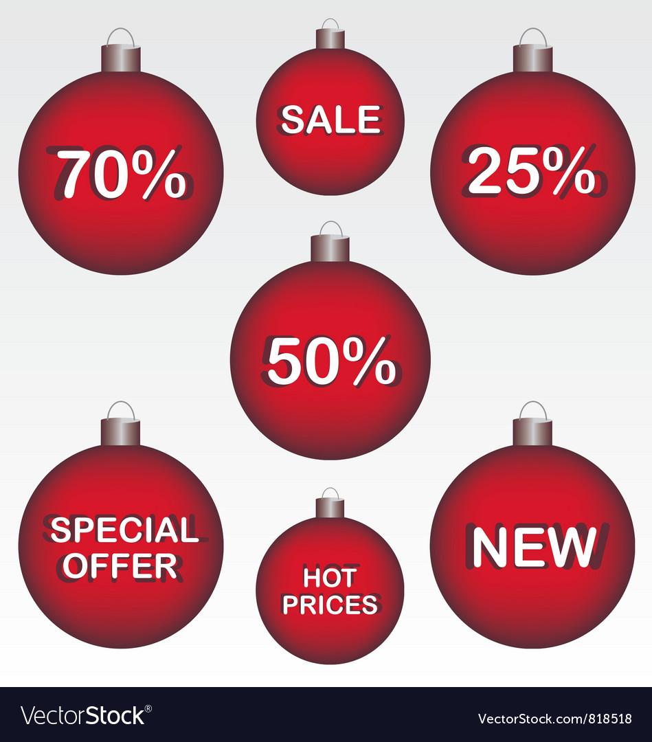 Sale christmas ball vector   Price: 1 Credit (USD $1)