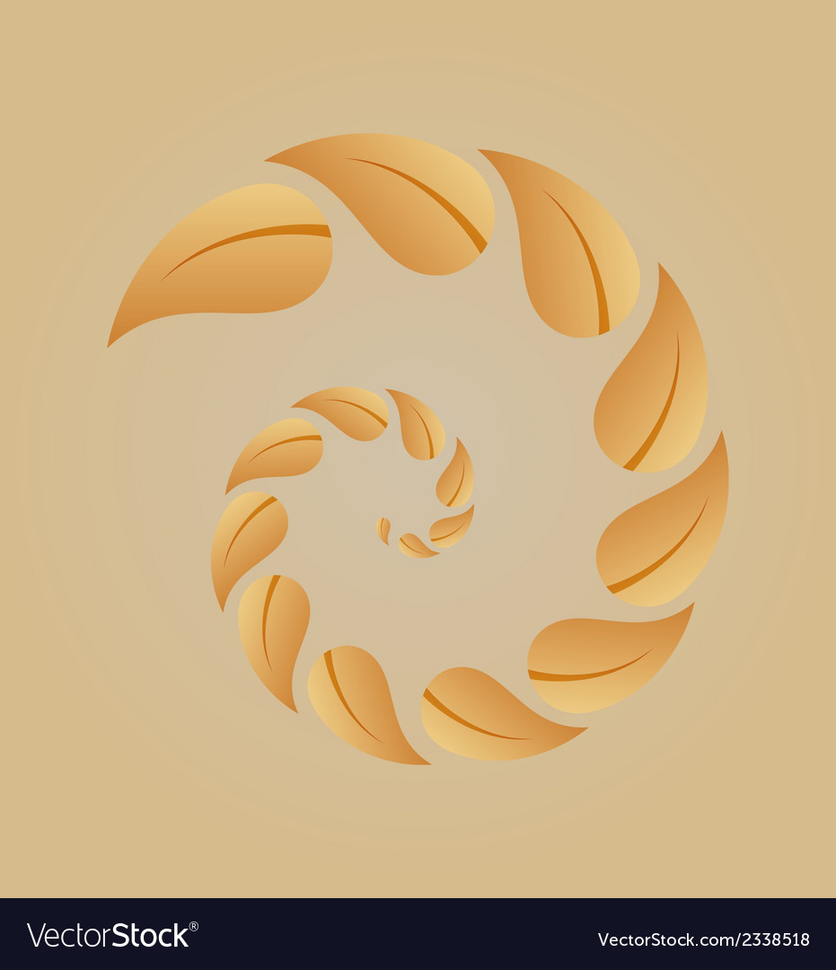 Spiral of yellow leaves vector | Price: 1 Credit (USD $1)
