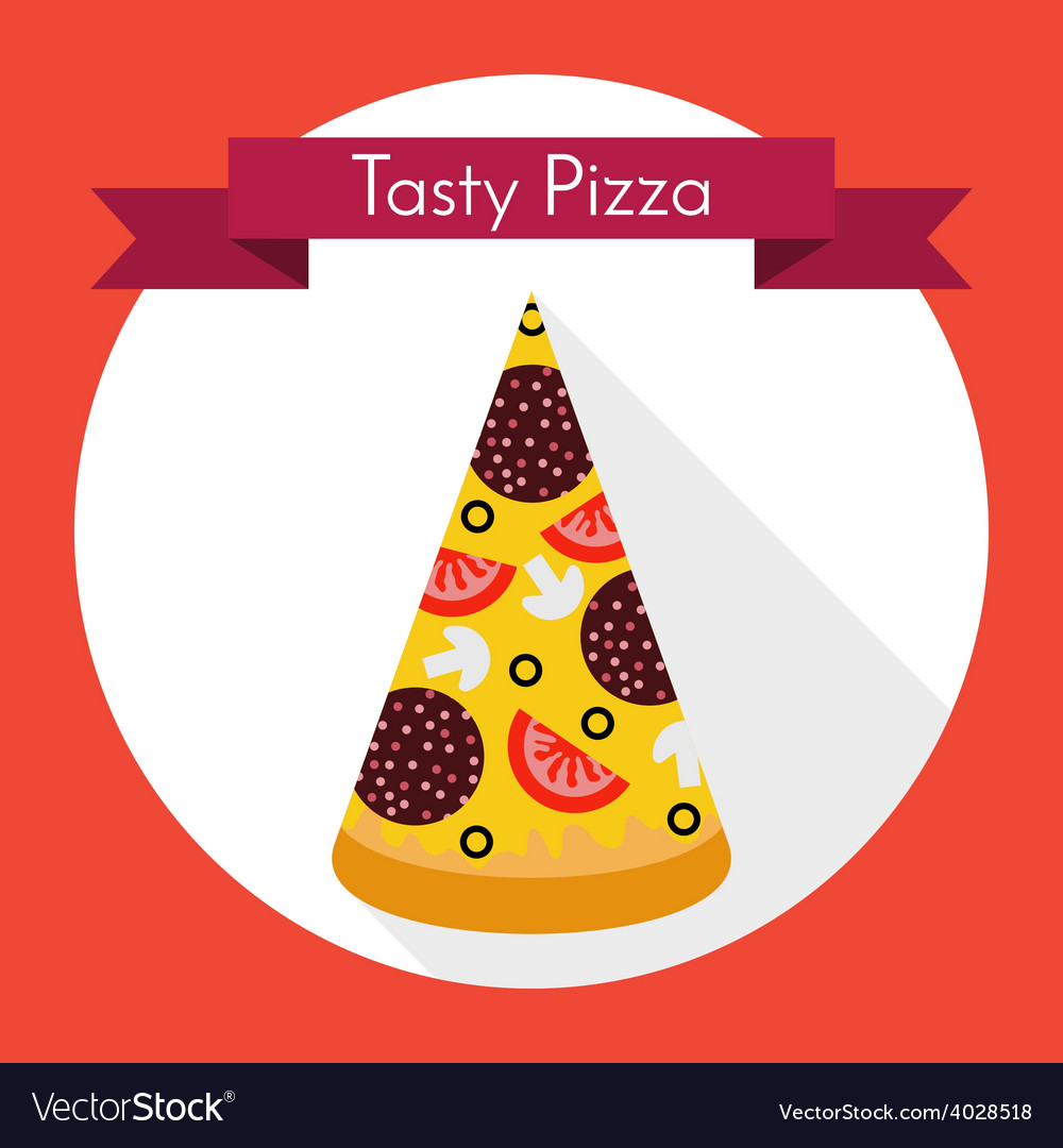 Tasty pizza vector | Price: 1 Credit (USD $1)