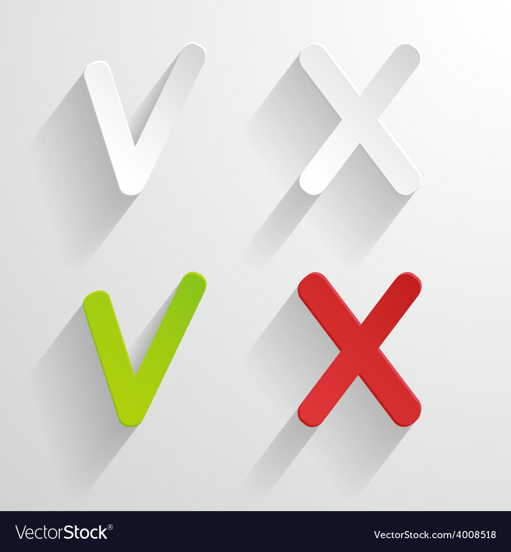 Tick and cross vector | Price: 1 Credit (USD $1)