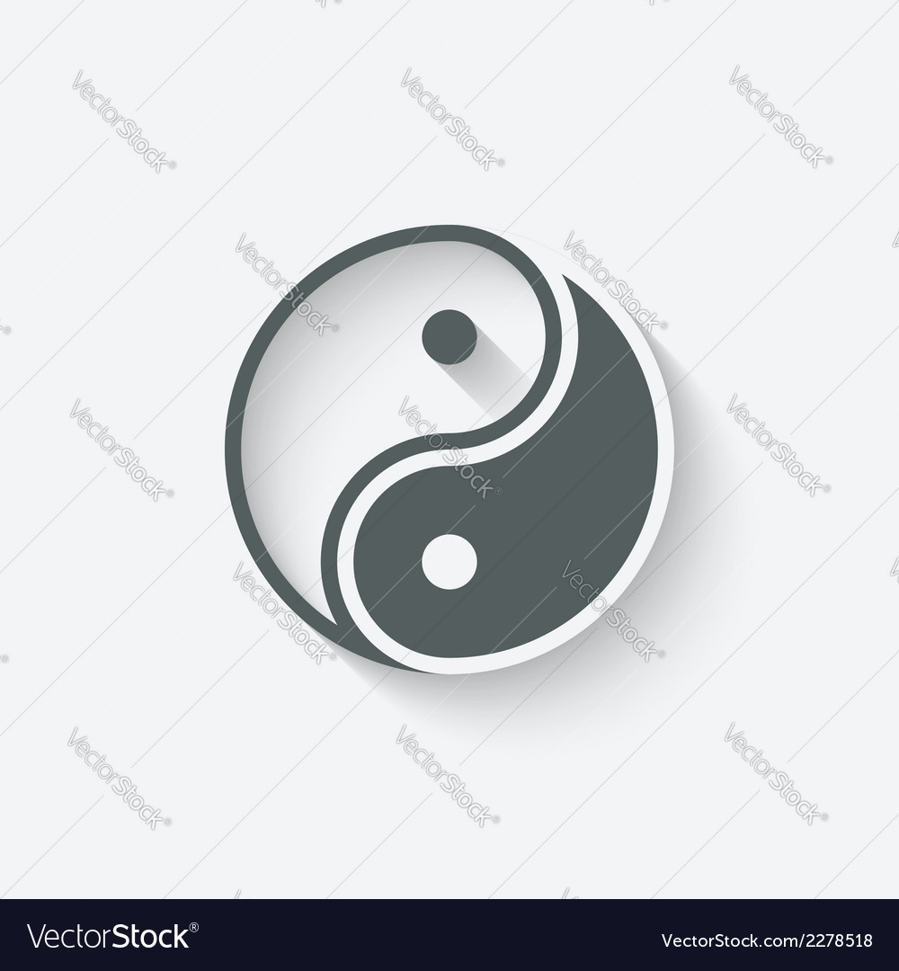 Yin yang icon vector | Price: 1 Credit (USD $1)