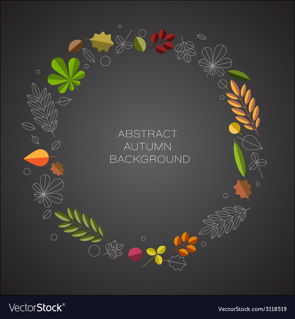 Autumn abstract floral background with place for vector | Price: 1 Credit (USD $1)