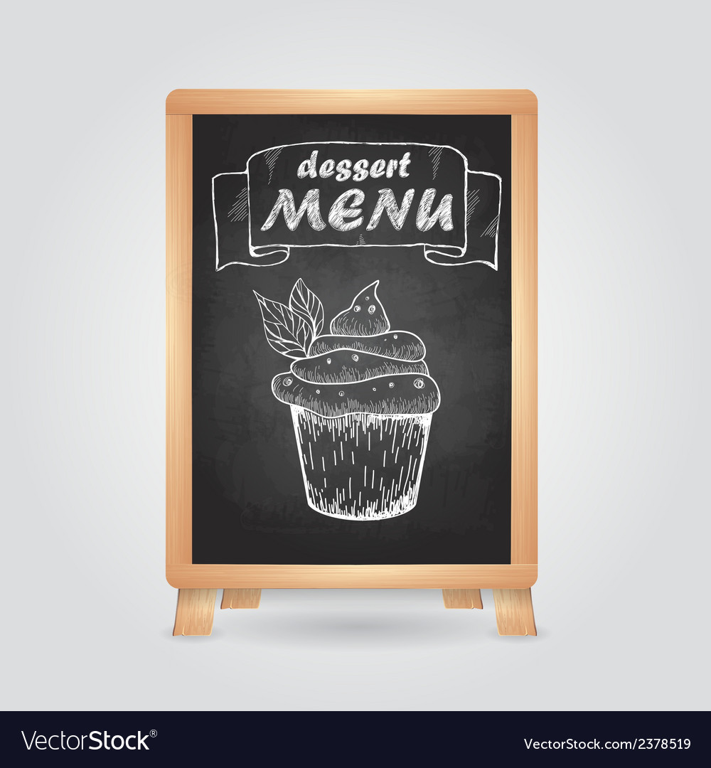 Chalk drawings retro typography cake vector | Price: 1 Credit (USD $1)