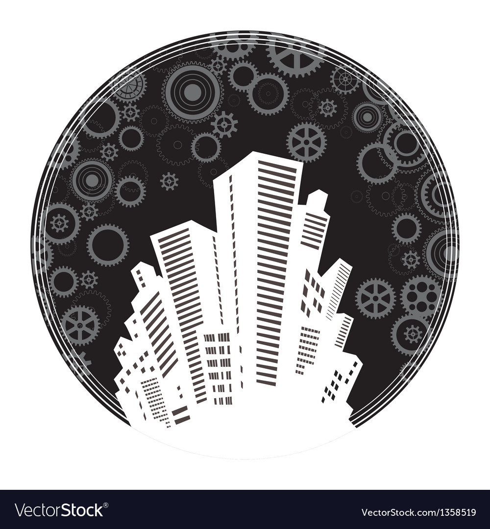 The citys skyline vector | Price: 1 Credit (USD $1)