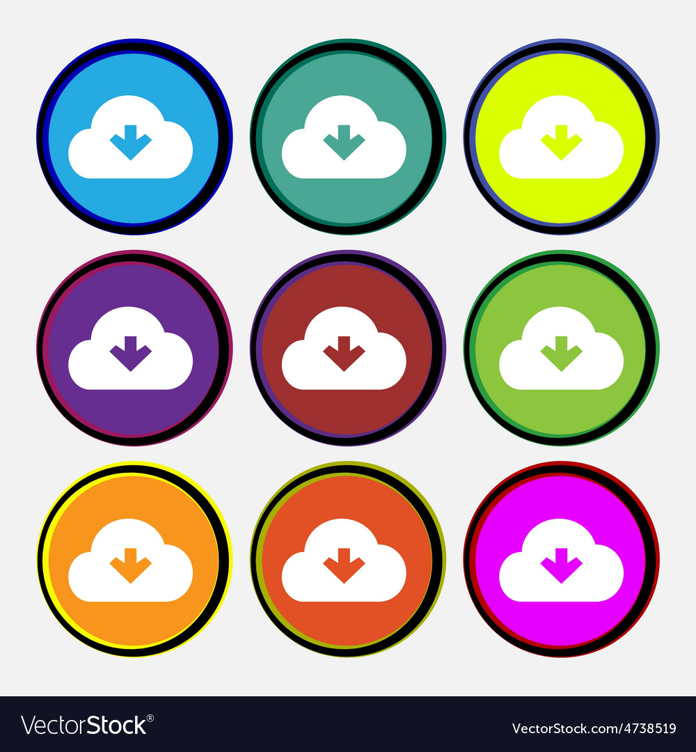 Download from cloud vector | Price: 1 Credit (USD $1)