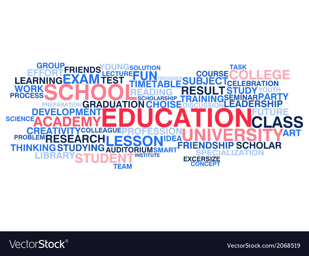 Education word cloud vector | Price: 1 Credit (USD $1)