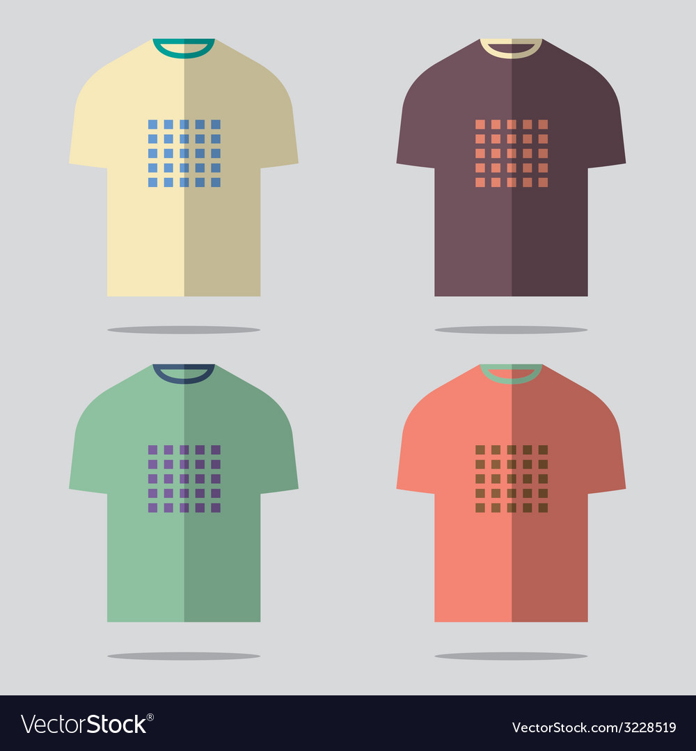 Flat design t-shirt set vector | Price: 1 Credit (USD $1)