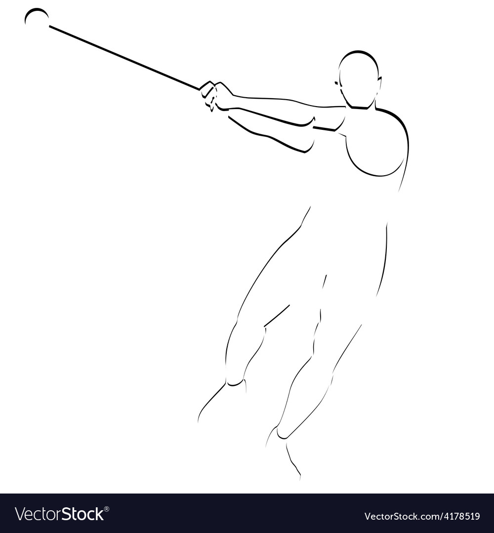 Hammer throwing vector | Price: 1 Credit (USD $1)