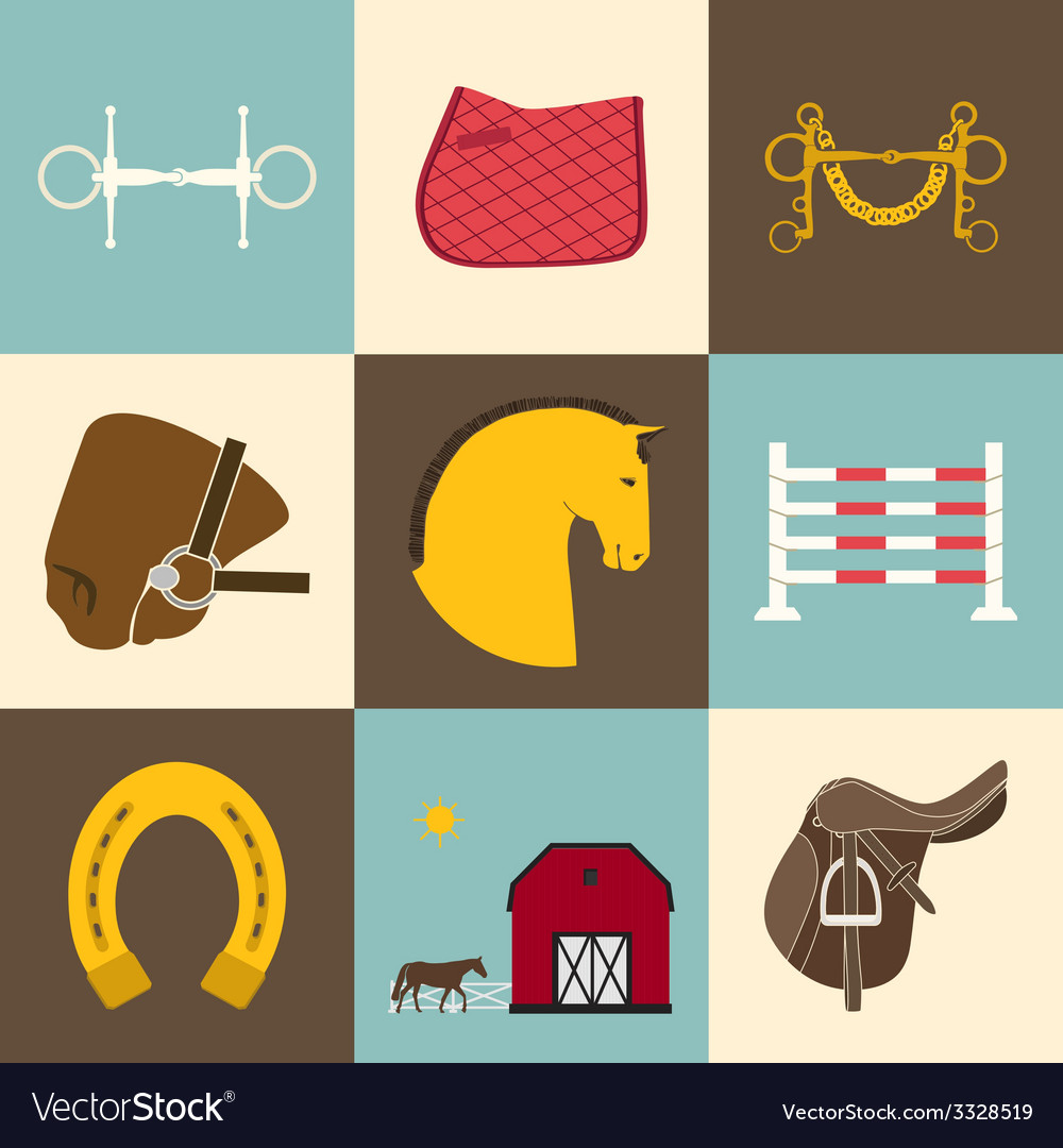 Horse icons vector | Price: 1 Credit (USD $1)