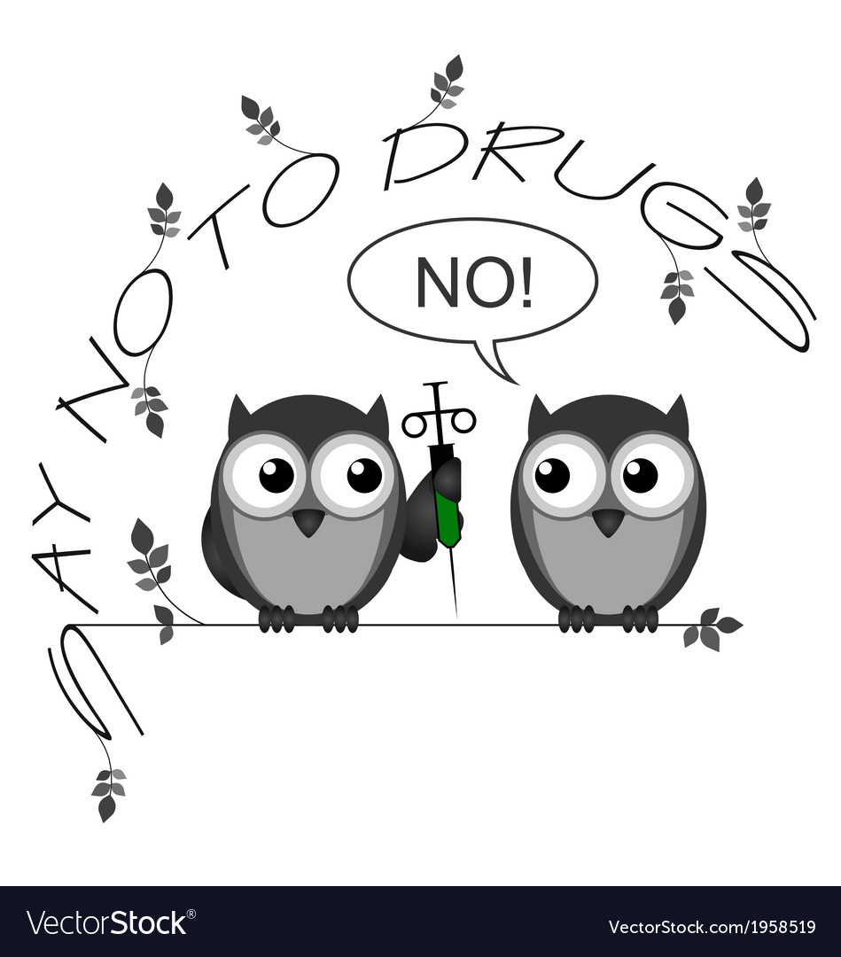 No to drugs vector | Price: 1 Credit (USD $1)