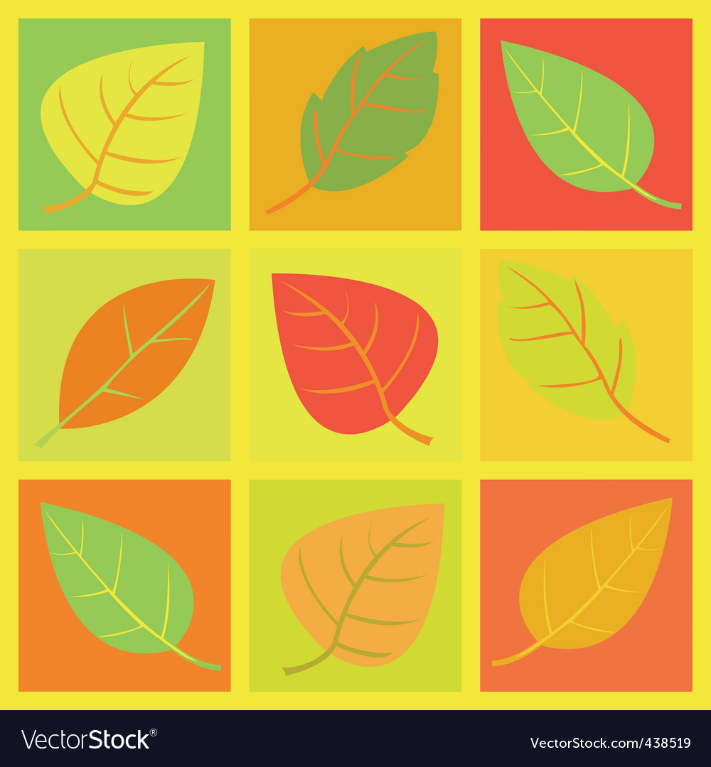 Retro leaves illustration vector | Price: 1 Credit (USD $1)