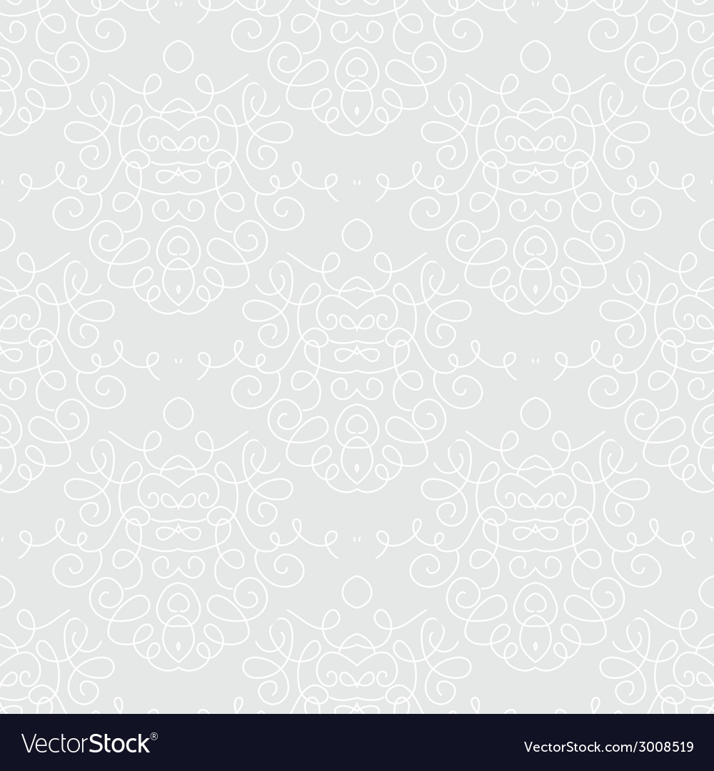 White damask texture with curling shapes vector | Price: 1 Credit (USD $1)