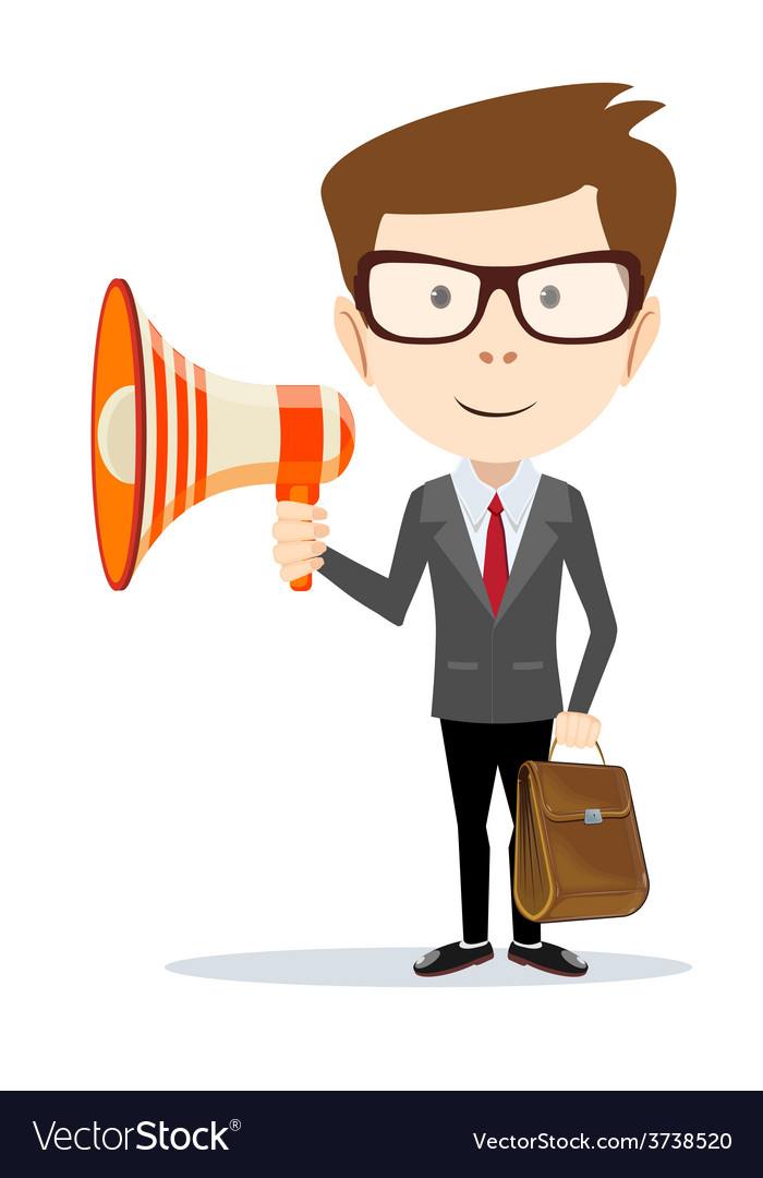 Businessman messenger negotiator with a vector   Price: 1 Credit (USD $1)