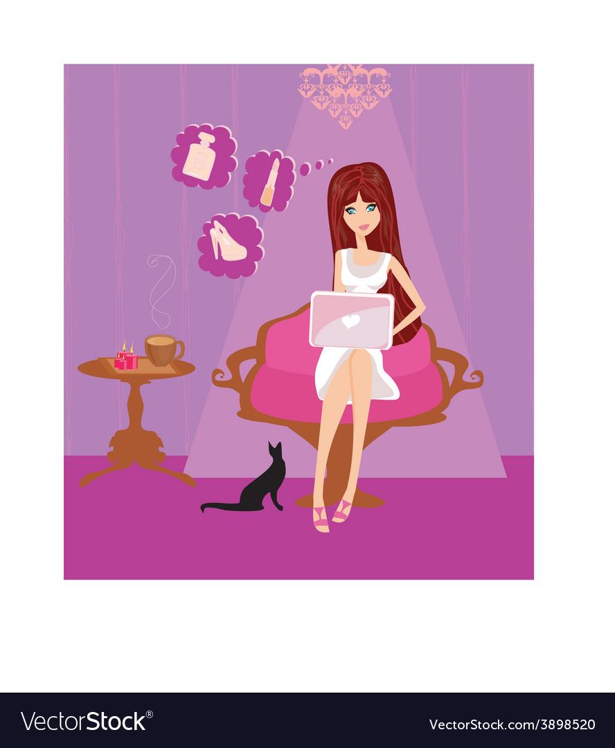 Cartoon female design vector | Price: 1 Credit (USD $1)