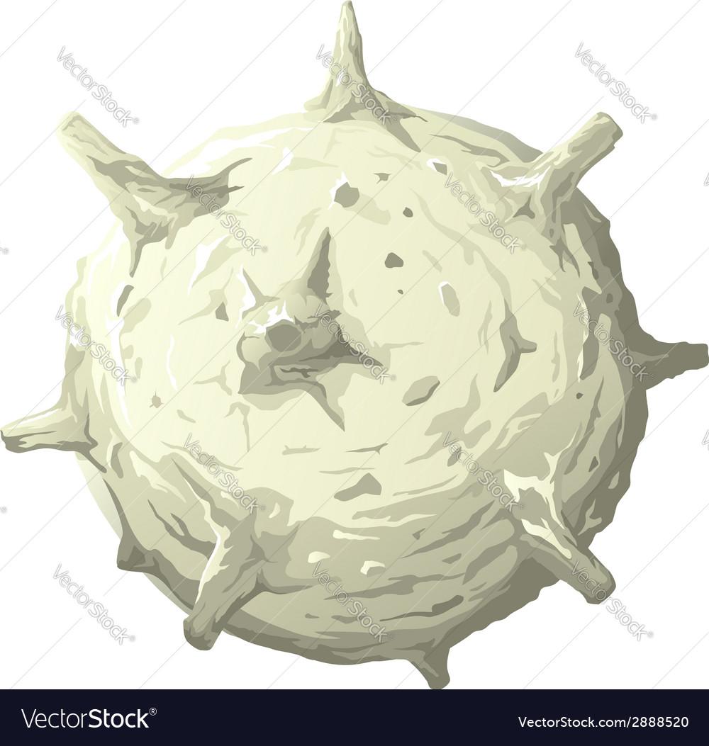 Cartoon planet with volcanos vector   Price: 1 Credit (USD $1)
