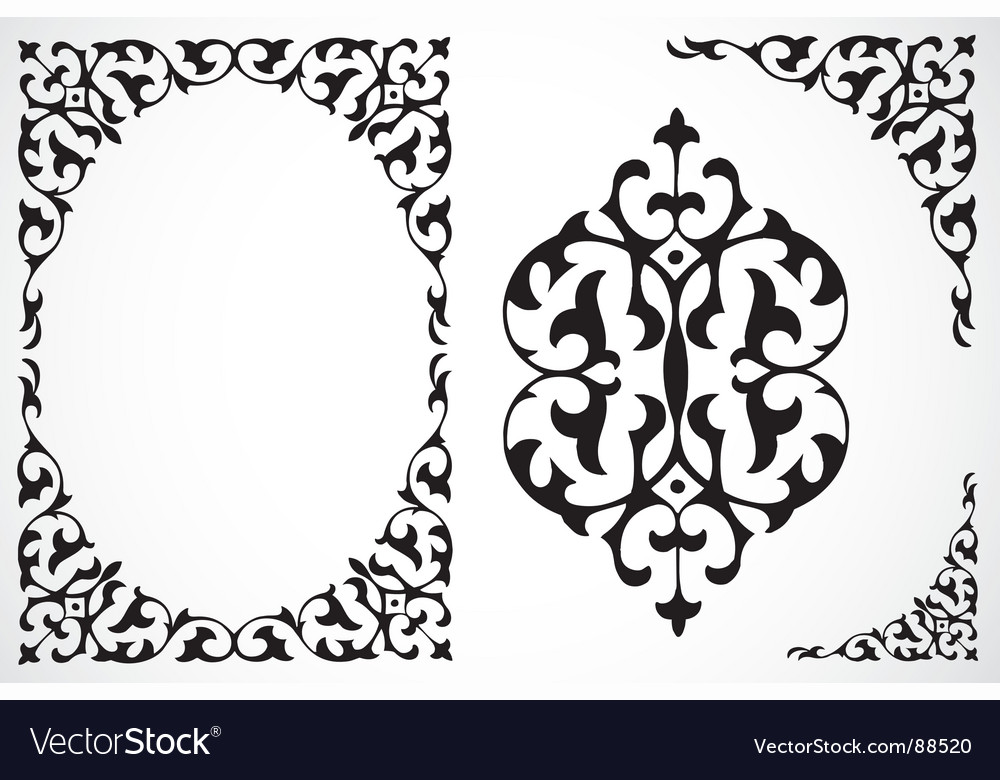 Frame and ornaments vector | Price: 1 Credit (USD $1)