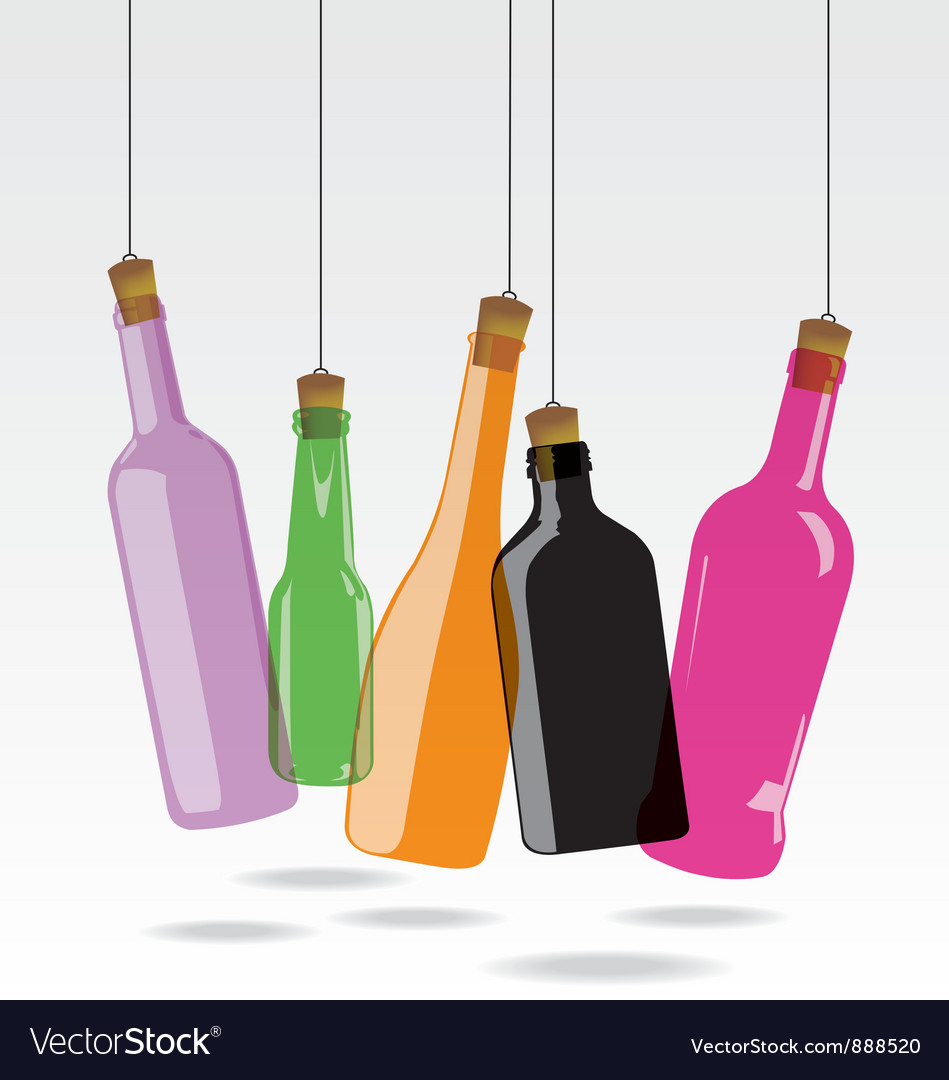 Glass bottle vector   Price: 1 Credit (USD $1)