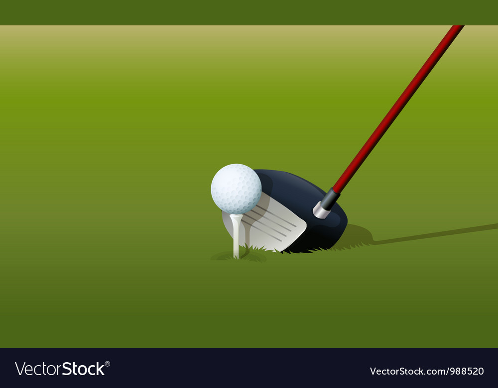 Golf driver club vector | Price: 1 Credit (USD $1)