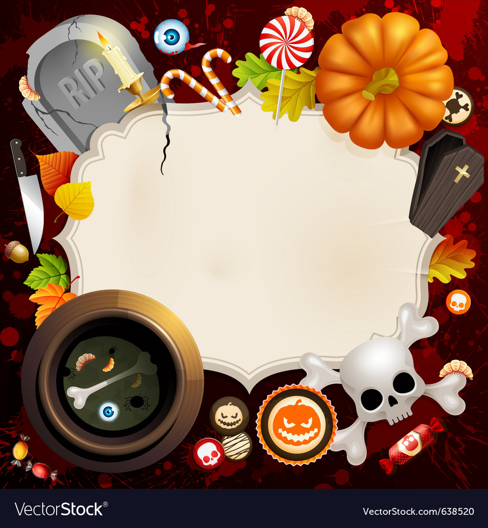 Halloween card vector | Price: 5 Credit (USD $5)