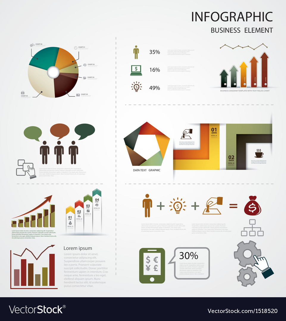 Infographics business vector | Price: 1 Credit (USD $1)