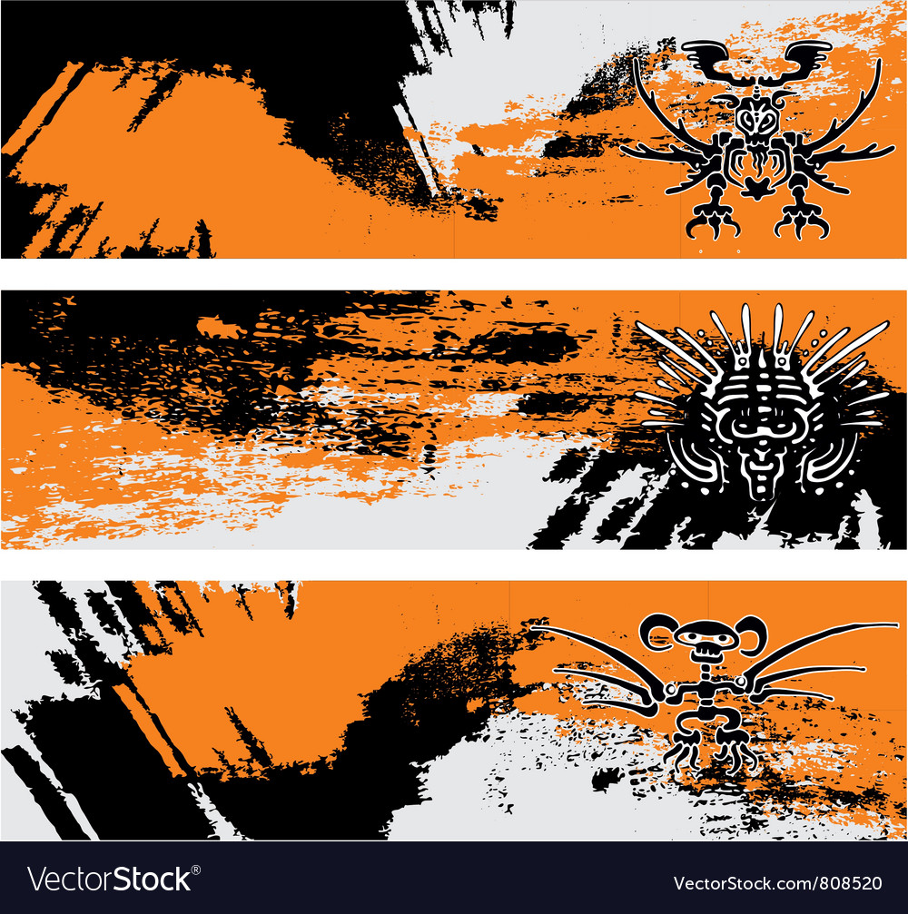 Maya banner vector | Price: 1 Credit (USD $1)