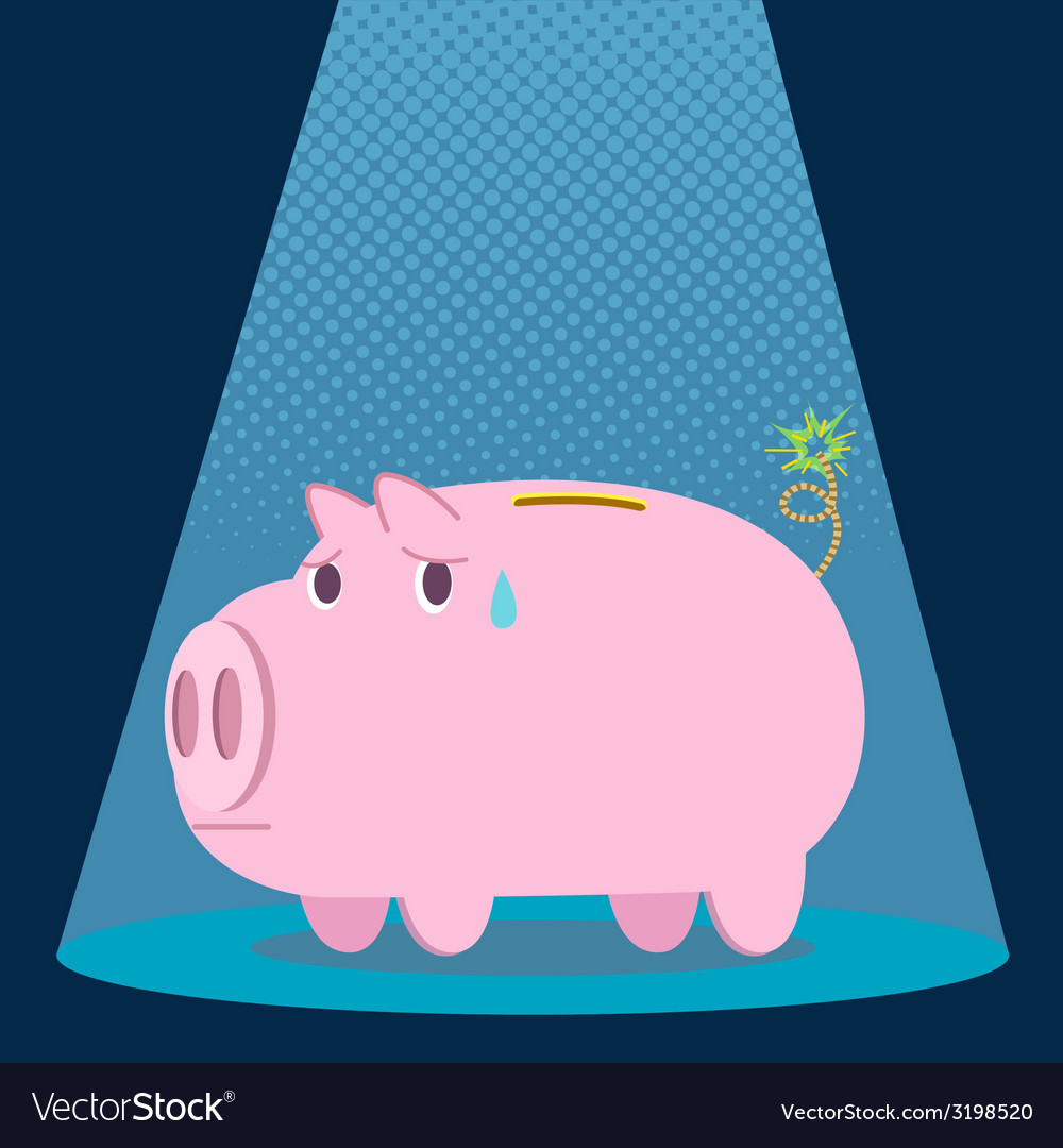 Pigbank vector | Price: 1 Credit (USD $1)