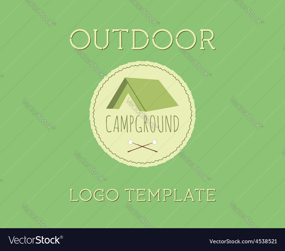 Adventure outdoor tourism travel logo vintage vector | Price: 1 Credit (USD $1)